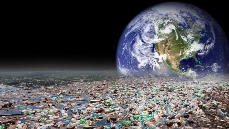 Planet Earth with Plastic